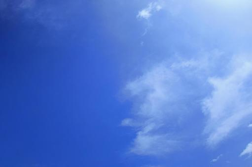 Blue sky and white clouds (wallpaper free free material background) Photo 07