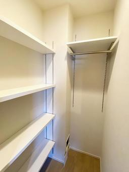 Newly built condominium closet