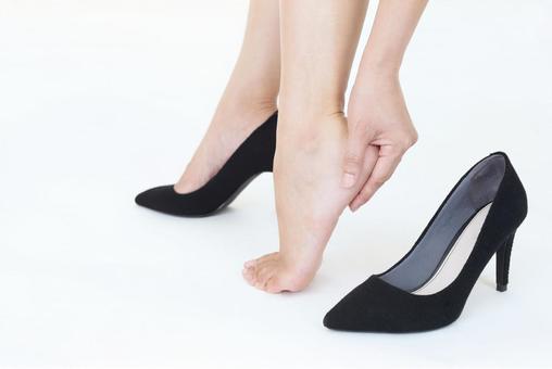 Women's heel shoes slip
