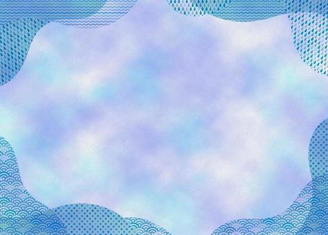 Light blue pattern frame & texture 01