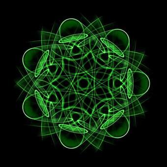 Fantastic geometric pattern 113 green