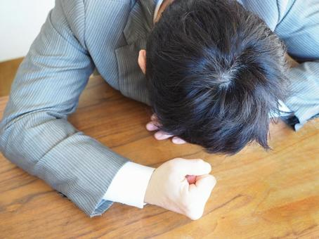 Businessman 【man with overworking feeling】
