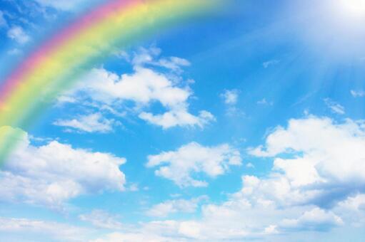 맑은 하늘과 무지개 0430