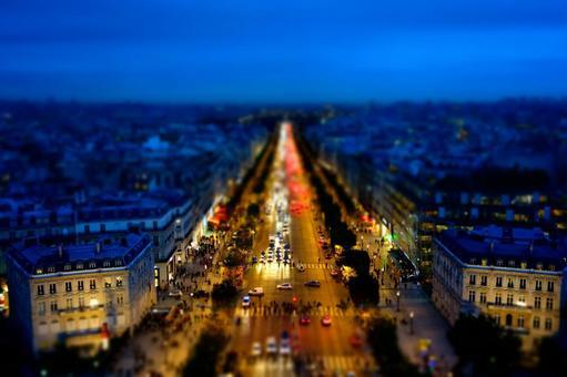 Paris streets of miniature night 1
