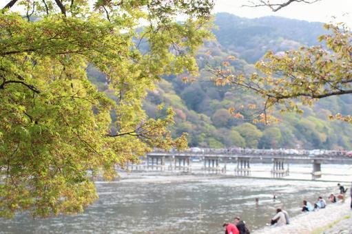 Beside Togetsukyo Bridge