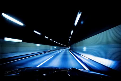 Tunnel while driving