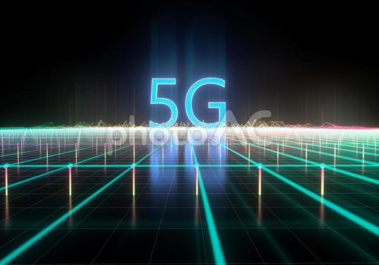 5Gの3DCGの写真