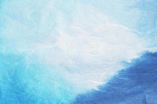 Blue and white handmade paper texture background material