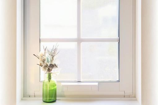 Vase image wallpaper natural on the windowsill