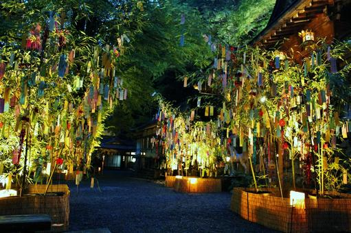 Kyoto Kibune Shrine Tanabata bamboo grass decoration light up