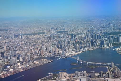 Aerial view of central Tokyo ①