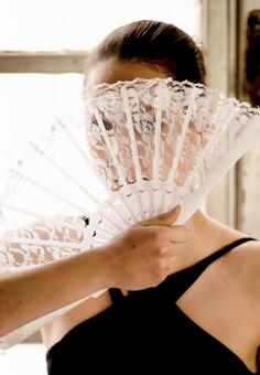 A woman with a fan 21