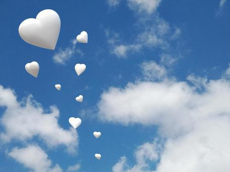 Many hearts floating in the sky_1
