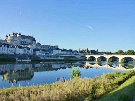 昂布瓦斯城堡反映在盧瓦爾河的表面