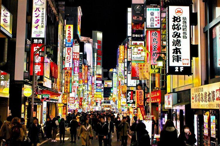 歌舞伎町 夜景ネオン1の写真