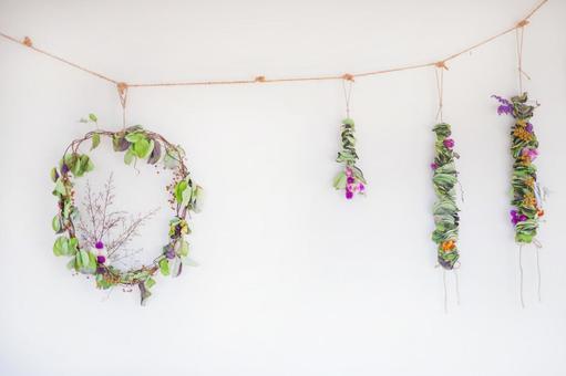 말린 꽃 만들기 _ 유칼립투스 화환