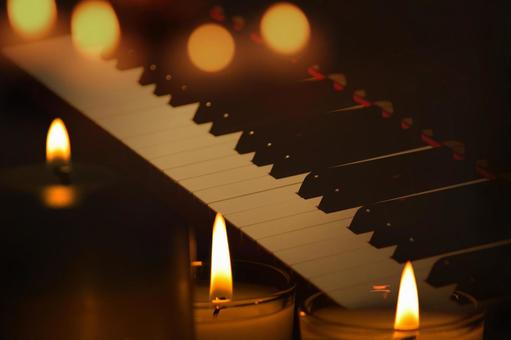 Candlelight and piano