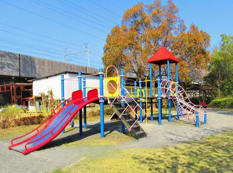 Playground equipment in the park