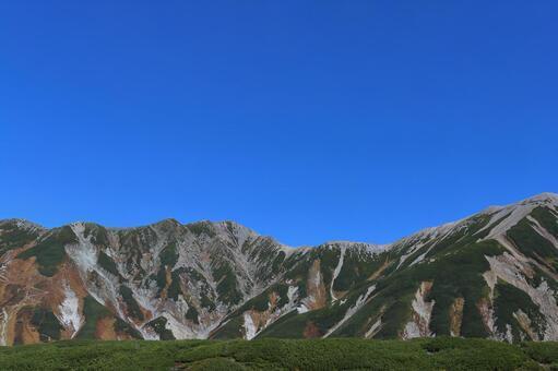 숲 한계 고원과 산의 풍경