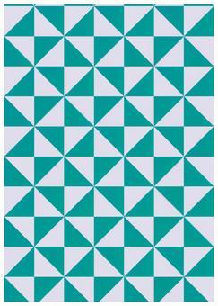 Geometric texture windmill blue