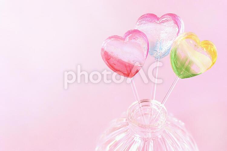 ハートのキャンディの写真