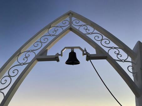 Marriage bell silhouette