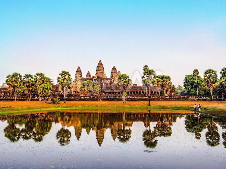 【カンボジア】シェムリアップのアンコールワットの写真