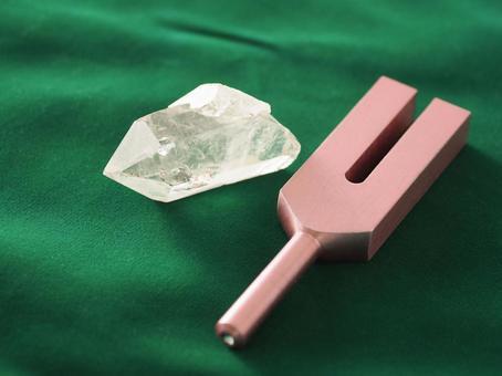 Crystal tuning fork