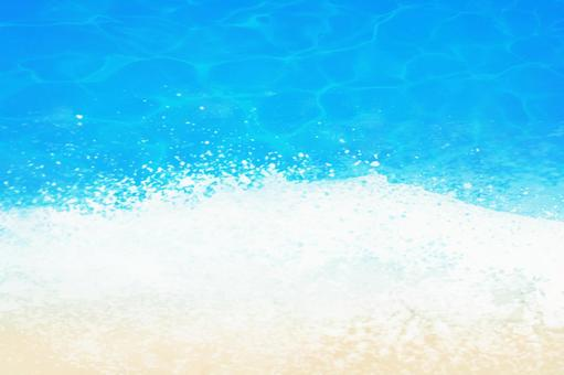 Blue water surface wave sea background glitter layer