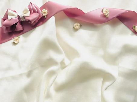 Ribbon rose cloth