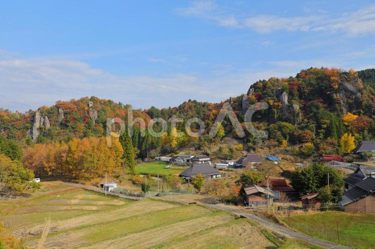 立羽田の景 紅葉の写真