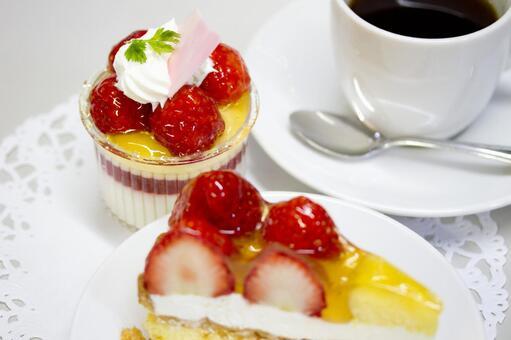 Spring taste strawberry cake