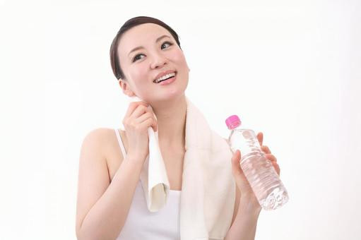 Woman with PET bottle 6