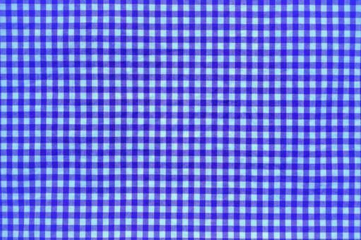 Fabric plaid blue