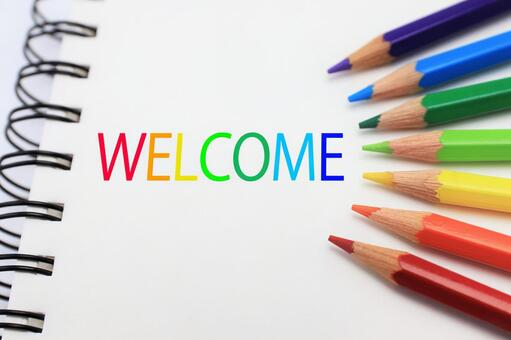 Welcome WELCOME 7 colors rainbow