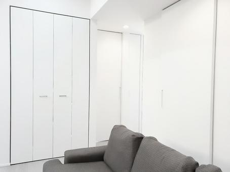 White door in the new living room