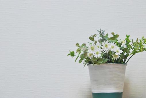 Whole white flower (artificial flower)