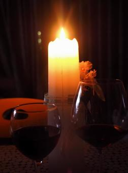 Wedding Anniversary Wedding Candle Red Wine