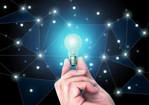 Night sky network and light bulb