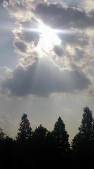구름을 통해 빛