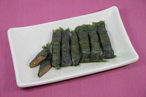 宮城縣鳴子溫泉特色烤紫蘇卷