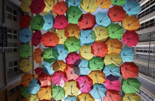 포르투갈 다채로운 우산