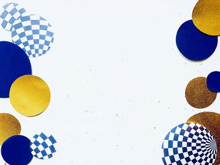 Checkered pattern and circular background
