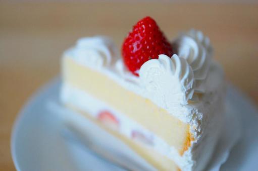 A delicious strawberry shortcake