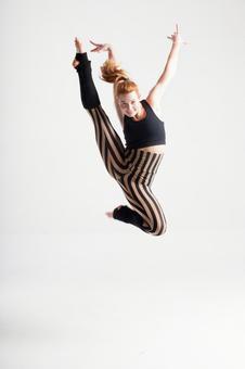 Jumping female dancer 2