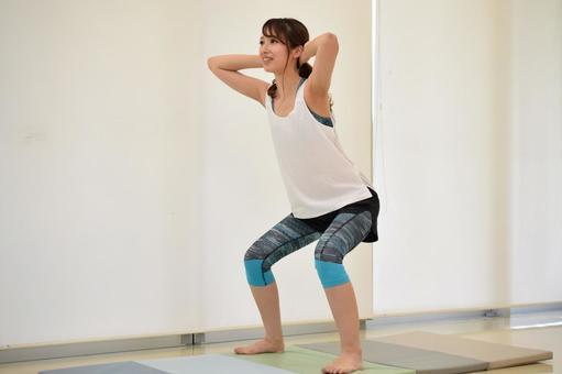 A woman who squats