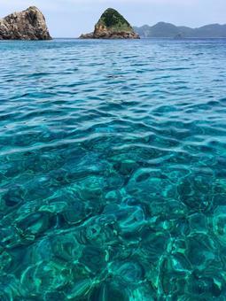 아마미 가케 로마 섬 푸른 바다