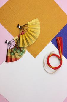Folding fan and Mizuhiki