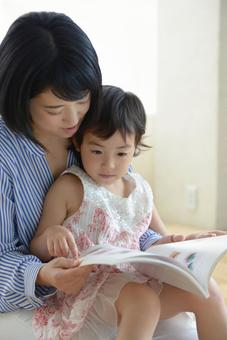 Mother and child reading 7