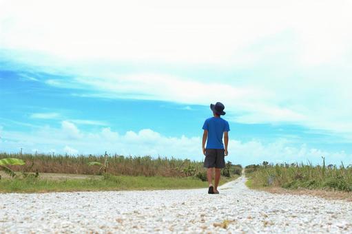 Walking youth